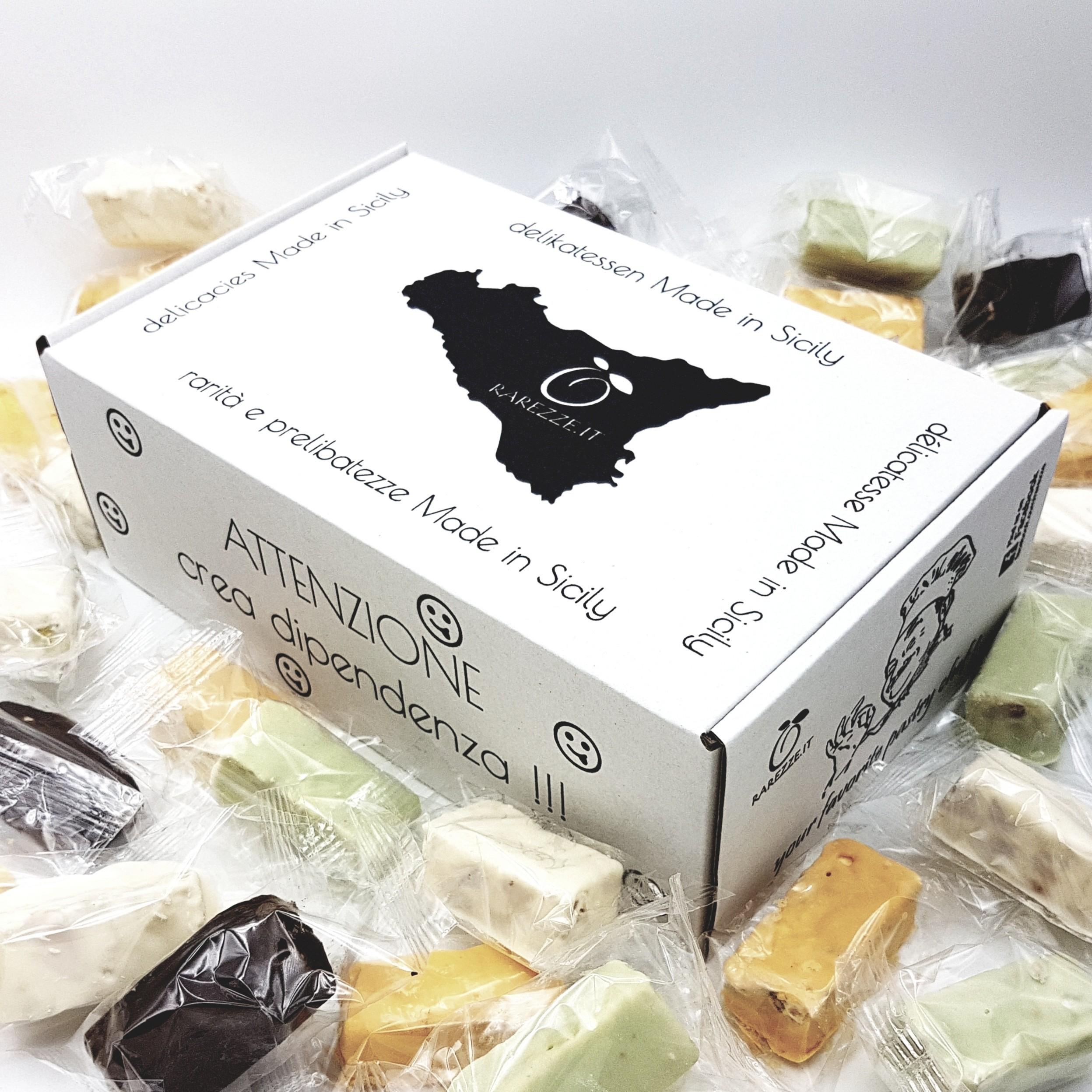 Torroncini siciliani mandorle e pistacchi in confezione regalo